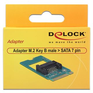 Delock Adapter 67pin M.2 Key B -> SATA 7Pin St/St