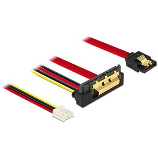 0.30m Delock SATA 6Gb/s Anschlusskabel SATA Buchse + Floppy 4pin
