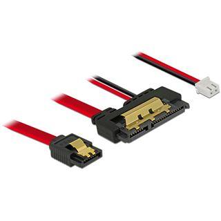 0.10m Delock SATA Adapterkabel SATA Buchse + 2pin Strom Buchse auf