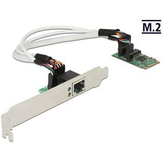 Delock SATA Konverter M.2Key B+M - 1x Gigabit LAN St/Bu