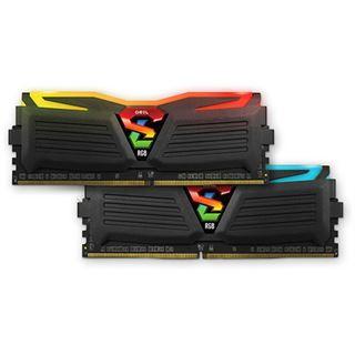 32GB GeIL EVO Super Luce RGB LED schwarz DDR4-2400 DIMM Dual Kit