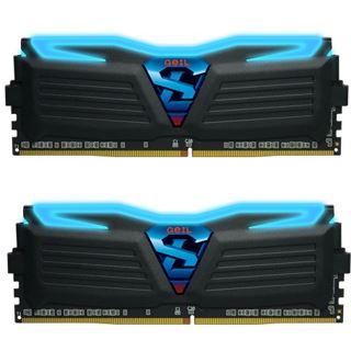 16GB GeIL EVO Super Luce blaue LED schwarz DDR4-2400 DIMM Dual Kit