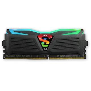 16GB GeIL EVO Super Luce RGB LED schwarz DDR4-2400 DIMM Dual Kit