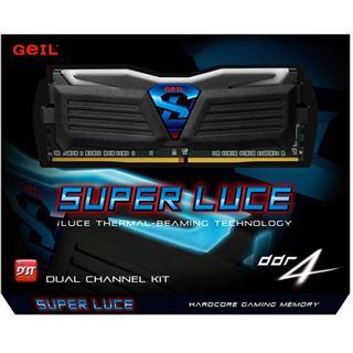 16GB GeIL EVO Super Luce weiße LED schwarz DDR4-2400 DIMM Dual