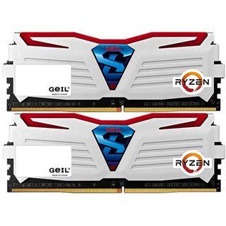8GB GeIL Ryzen Super Luce rote LED weiß DDR4-2400 DIMM CL16