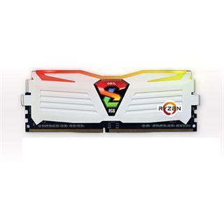 8GB GeIL Ryzen Super Luce RGB LED weiß DDR4-2400 DIMM CL16 Dual