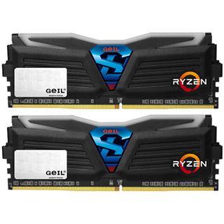 8GB GeIL Ryzen Super Luce weiße LED schwarz DDR4-2400 DIMM CL16