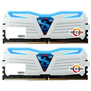 8GB GeIL Ryzen Super Luce blaue LED weiß DDR4-2400 DIMM CL16