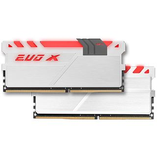 8GB GeIL EVO X weiß/grau DDR4-2400 DIMM CL16 Dual Kit