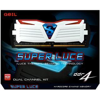 8GB GeIL EVO Super Luce rote LED weiß DDR4-2400 DIMM CL16 Dual