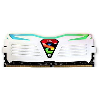 8GB GeIL EVO Super Luce RGB LED weiß DDR4-2400 DIMM CL16 Dual