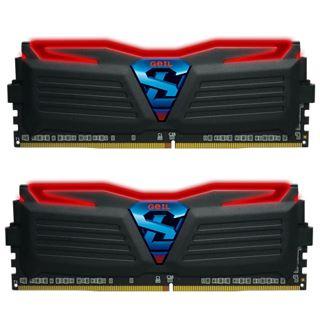 8GB GeIL EVO Super Luce rote LED schwarz DDR4-2400 DIMM CL16 Dual Kit