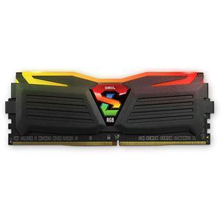 8GB GeIL EVO Super Luce RGB LED schwarz DDR4-2400 DIMM CL16 Dual Kit