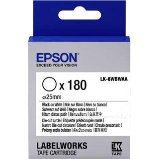 Epson TAPE - LK8WBWAA D-CUT C schwarz/weiß