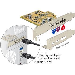 Delock PCI Expr Card 1x USB3.1 C ext +1x USB3.1 C ext. Bu/Bu