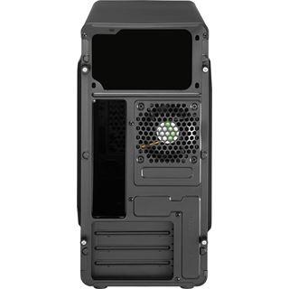 AeroCool Qs-183 Advance Micro-ATX ohne Netzteil schwarz/blau