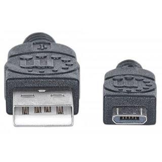 (€26,00*/1m) 0.15m Manhattan USB2.0 Anschlusskabel USB A Stecker