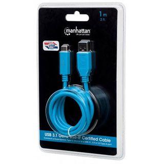 (€11,90*/1m) 1.00m Manhattan USB3.1 Gen2 Anschlusskabel USB C