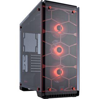 Corsair Crystal 570X RGB mit Sichtfenster Midi Tower ohne Netzteil rot