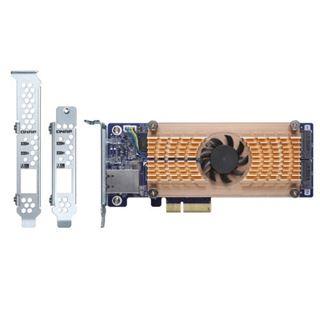 QNAP DUAL M.2 2280 SATA SSD & SINGLE-PORT 10GBE EXPANSION CA