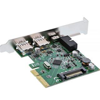 InLine Schnittstellenkarte, PCIe x4, 2x USB 3.1, 2x Typ A extern oder