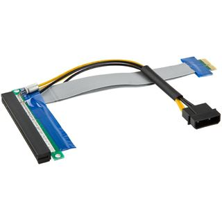 Kolink PCI-E 1x auf 16x Riser-Kabel inkl. Molex-Stromkabel - 19cm