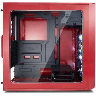 Fractal Design Focus G mit Sichtfenster Midi Tower ohne Netzteil rot