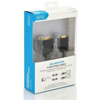 0.20m Digitus VGA Anschlusskabel doppelt geschirmt VGA 15pol Stecker