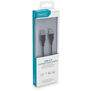 1.80m Digitus USB2.0 Anschlusskabel High-Speed USB A Stecker auf USB