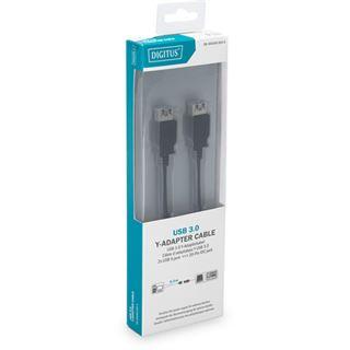 0.30m Digitus USB3.0 Y-Kabel Super-Speed USB Pfostenstecker 19pol auf