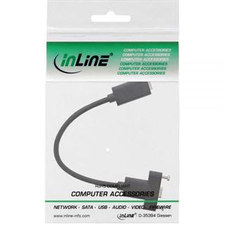 0.20m InLine USB3.1 Adapterkabel USB C Buchse auf USB C Buchse