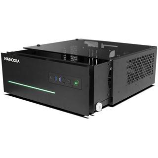 Nanoxia Project S Midi mit Sichtfenster Desktop ohne Netzteil schwarz