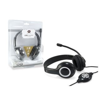 Conceptronic USB STEREO Headset Mic schwarz