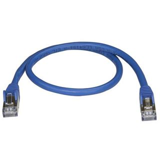 (€17,80*/1m) 0.50m Startech Cat. 6a Patchkabel S/FTP PiMF RJ45