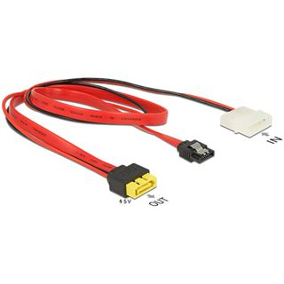 0.30m Delock SATA 6Gb/s Adapterkabel SATA Buchse + Molex 4pin Strom