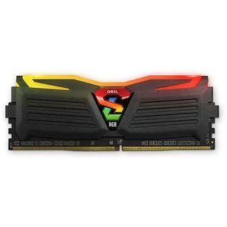 8GB GeIL EVO Super Luce Sync RGB LED schwarz DDR4-2400 DIMM CL16 Dual