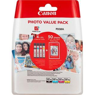 Canon Tinte CLI-581 XL 2052C004 schwarz matt, cyan ,magenta, gelb, rot