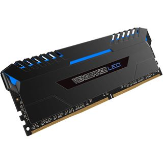 64GB Corsair Vengeance LED blau DDR4-2666 DIMM CL16 Quad Kit