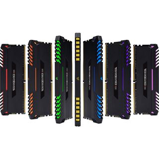 64GB Corsair Vengeance RGB schwarz DDR4-2666 DIMM CL16 Quad Kit