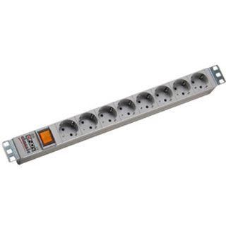 () 0.00m Lindy Steckdosenleiste mit Schalter Grau 8 (73400)