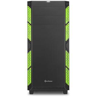 Sharkoon AI7000 gedämmt Midi Tower ohne Netzteil schwarz/gruen