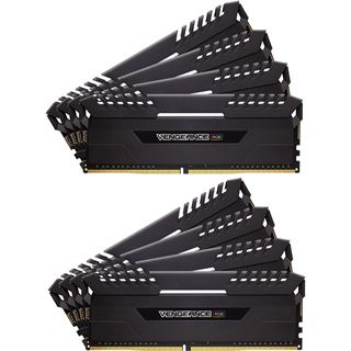 64GB Corsair Vengeance RGB schwarz DDR4-3466 DIMM CL16 Quad Kit