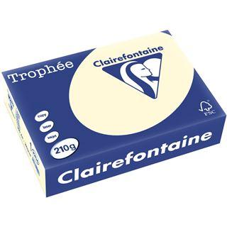Clairalfa Clairefontaine Universal-Papier, DIN A4, 210 g/qm, elfenbein