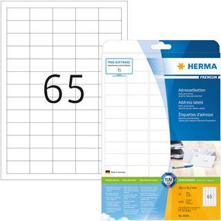 Herma Adressetiketten Premium A4 weiß 38,1 x 21,2 mm 1625St.
