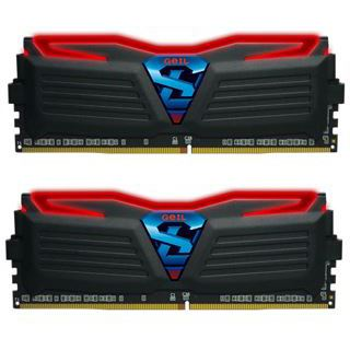 16GB GeIL Super Luce schwarz LED rot DDR4-2400 DIMM CL17 Dual Kit