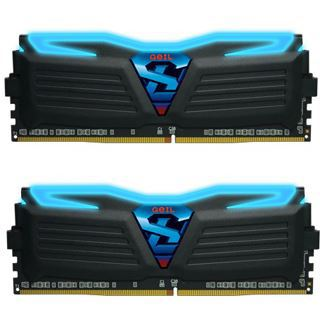 16GB GeIL Super Luce schwarz LED blau DDR4-2400 DIMM CL17 Dual Kit