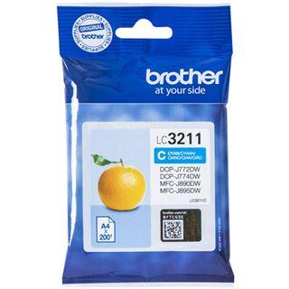 Brother Tintenpatrone LC-3211C Cyan (ca. 200 Seiten)