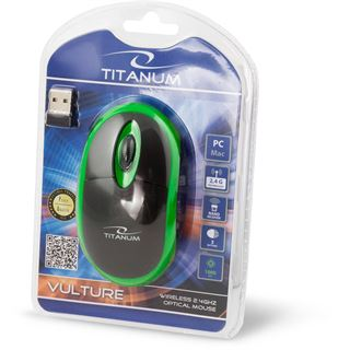 Xlyne Maus Vulture Titanium Optical Wireless grün/schwarz