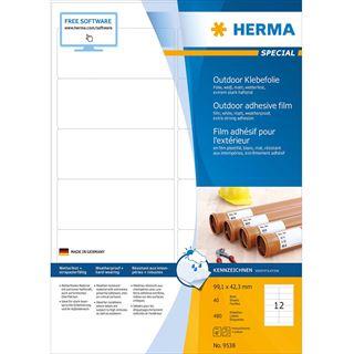 HERMA Outdoor Folien-Etiketten SPECIAL, 99,1 x 42,3 mm, weiß