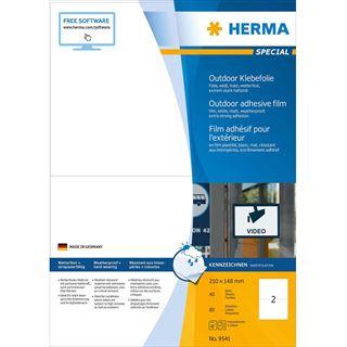 HERMA Outdoor Folien-Etiketten SPECIAL, 210 x 148 mm, weiß